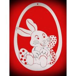Zawieszka pisanka - królik jajka