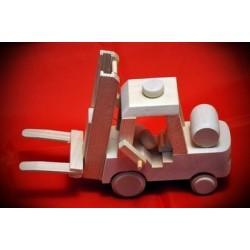 Drewniany wózek widłowy - widlak