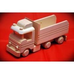 Drewniana ciężarówka - wywrotka