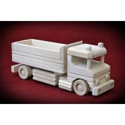 Duża drewniana ciężarówka - wywrotka
