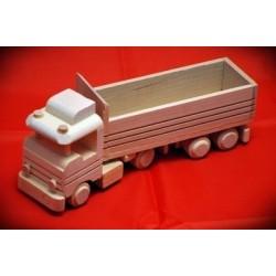 Drewniana ciężarówka TIR