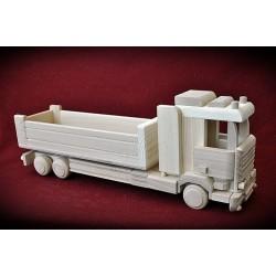 Duża drewniana ciężarówka TIR