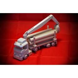 Drewniana ciężarówka - dźwig HDS 1