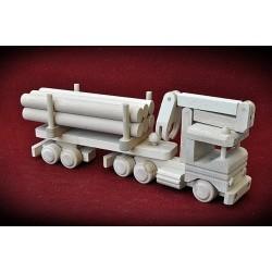 Drewniana ciężarówka - dźwig HDS 2