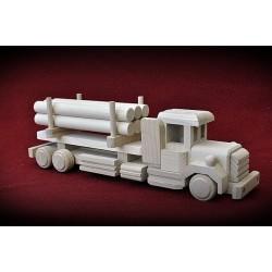 Drewniana ciężarówka RETRO z ładunkiem