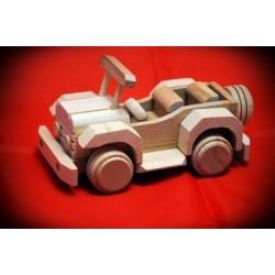 Drewniany jeep