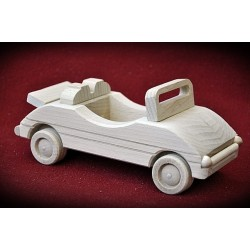 Drewniane auto kabriolet