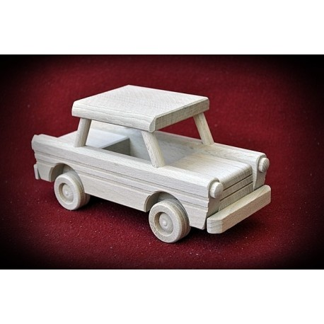 Drewniane auto - Trabant