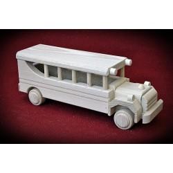 Drewniany autobus RETRO