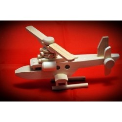 Drewniany helikopter