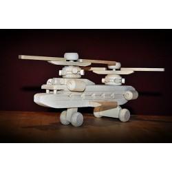 Drewniany helikopter duży.