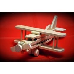 Drewniany samolot dwupłatowiec