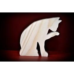 Drewniany kot - wzór 1