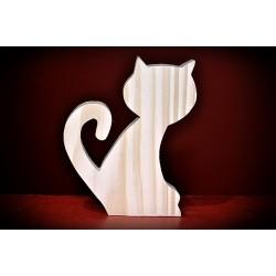 Drewniany kot - wzór 2