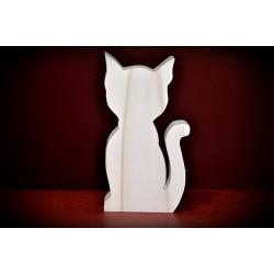 Drewniany kot - wzór 3