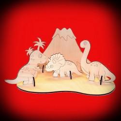 Drewniany zestaw - wyspa dinozaurów