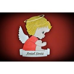 """Magnes - aniołek z grawerem """"Anioł Stróż"""""""