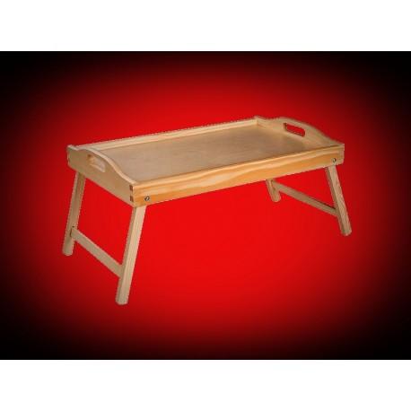 Drewniana taca stolik na nóżkach 50 x 30