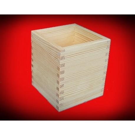 Drewniany pojemnik mały