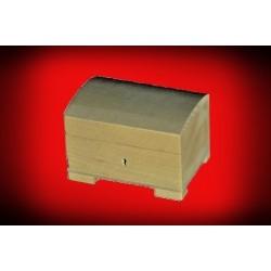 Drewniana szkatułka mała z zamkiem