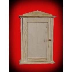 Drewniany domek - szafka na klucze