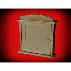 Drewniany domek - szafka na klucze niska