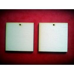 Drewniane kolczyki kwadratowe - 50 mm