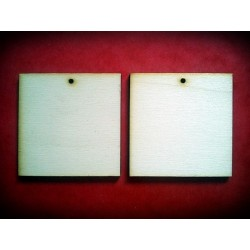 Drewniane kolczyki kwadratowe - 60 mm