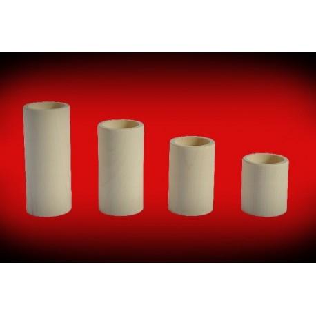 Drewniane świeczniki okrągłe - komplet