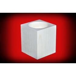Drewniany świecznik kwadratowy 6 cm