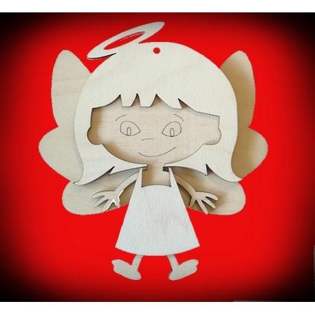 Drewniany aniołek dziewczynka