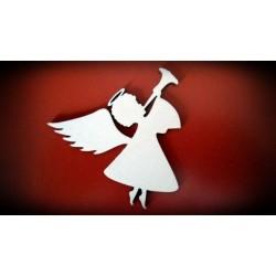 Dekor aniołek z trąbką