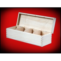 Podłużne pudełko cztery komory
