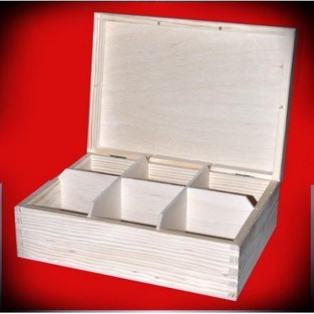 Pudełko sześć komór