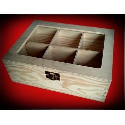 Pudełko sześć komór z okienkiem