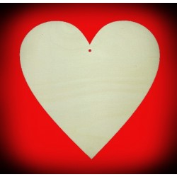 Serce ze sklejki - zawieszka