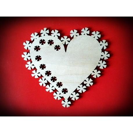 Serce z dekorem - wzór 1