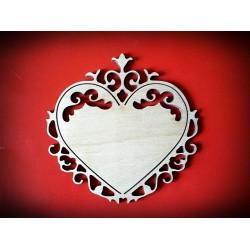 Serce z dekorem - wzór 2