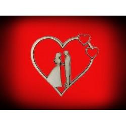 Serce ślub - wzór 1