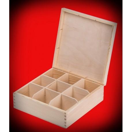 Pudełko dziewięć komór