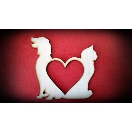 Serce pies i kot