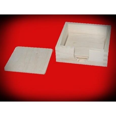 Pudełko z podkładkami pod kubek