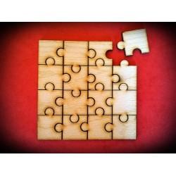 Drewniane puzzle 16 elementów
