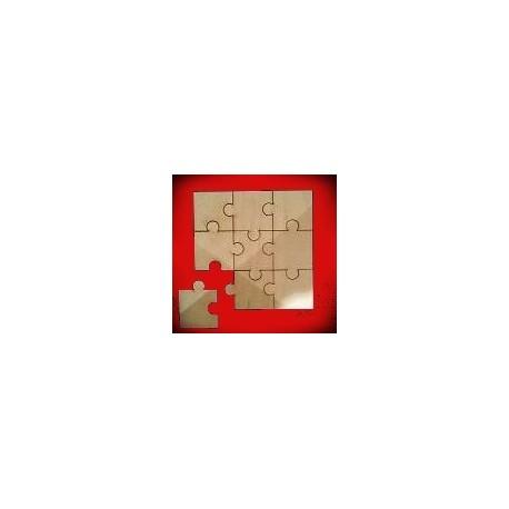 Drewniane puzzle 9 elementów