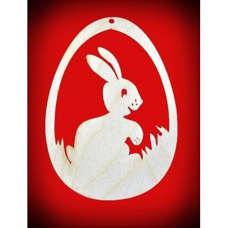Zawieszka pisanka - duży królik